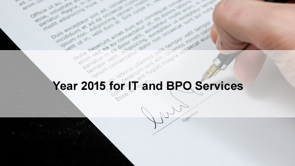 Year 2015 for IT and BPO Services