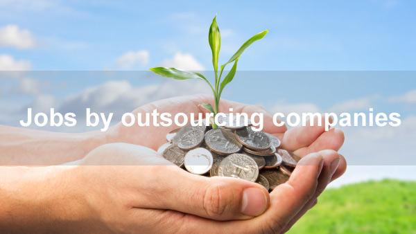 Jobs by outsourcing companies